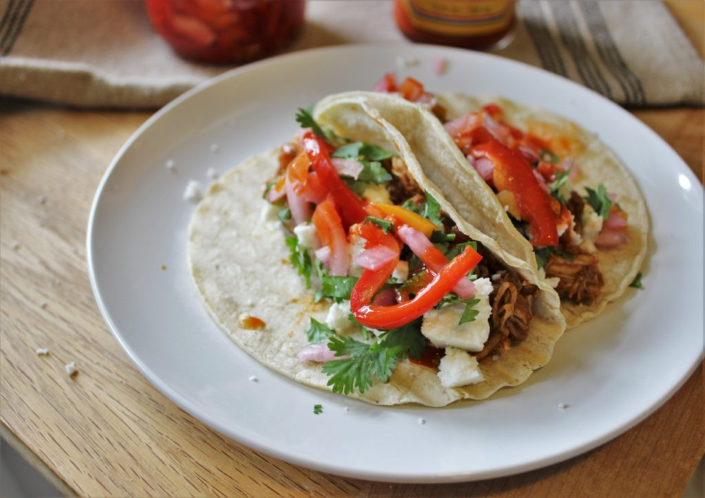 Saucy Pulled Chicken Tacos