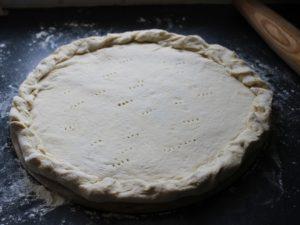pizza dough prep
