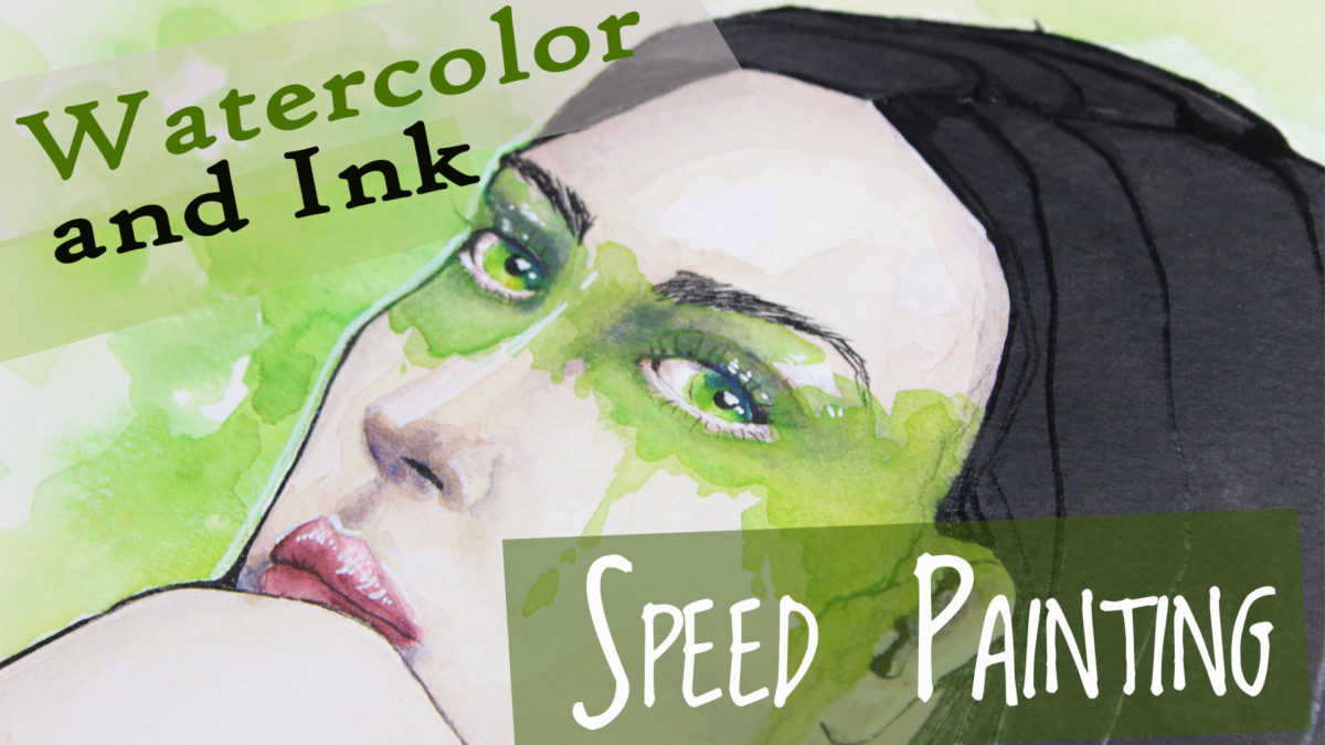 Watercolor Speed Painting Video
