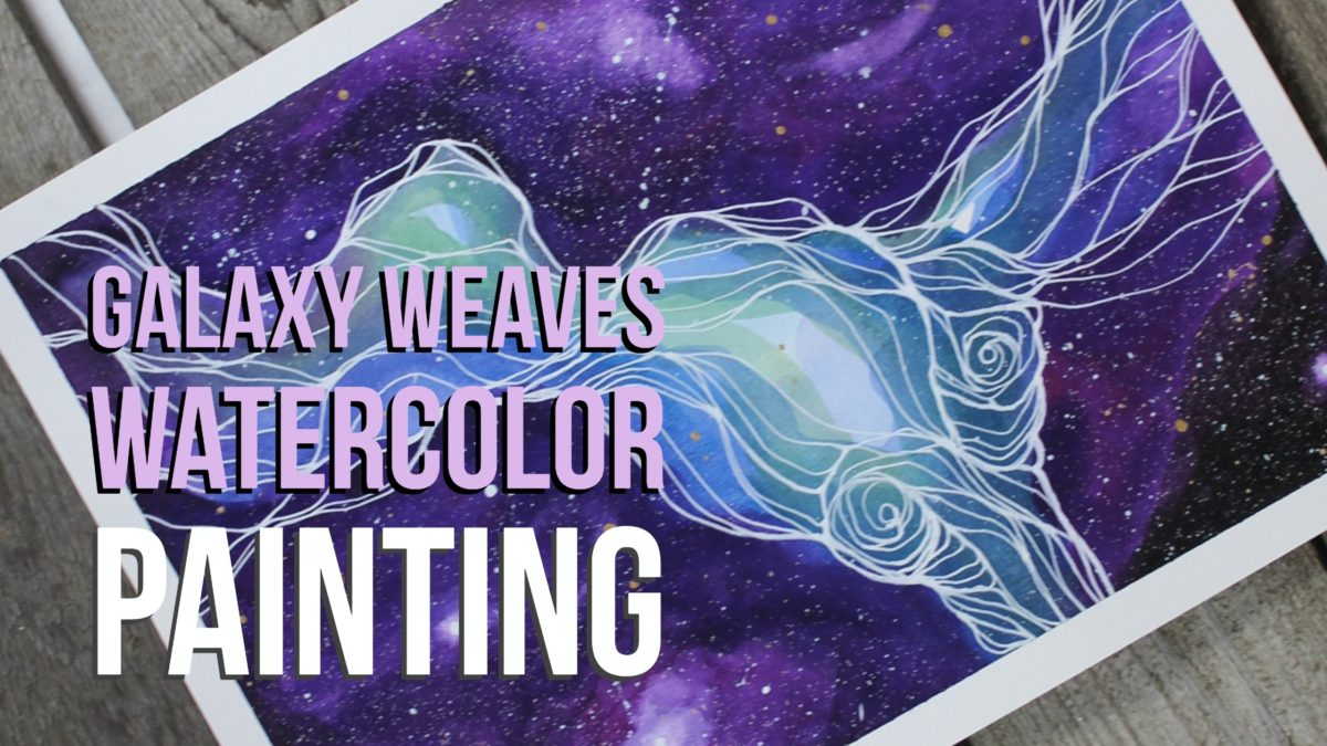 Galaxy Weaves Watercolor Painting Time Lapse Video