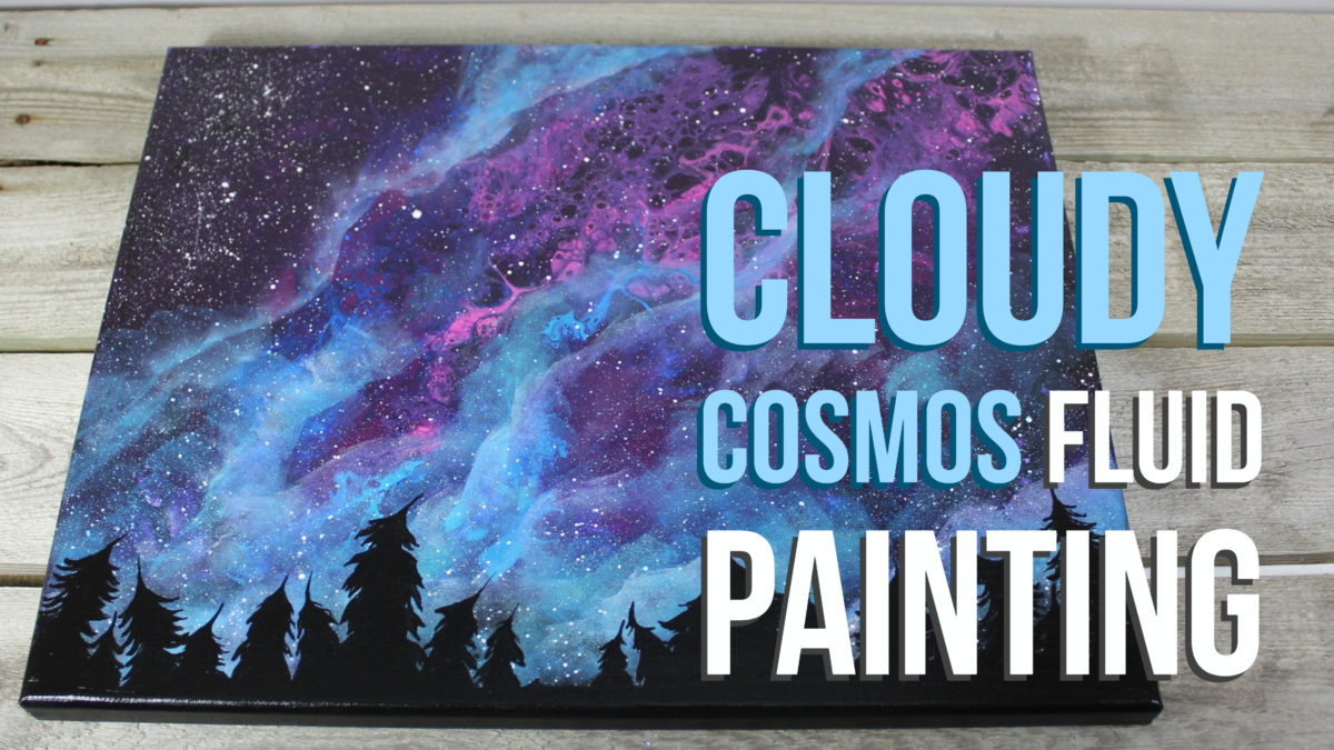 Cloudy Cosmos Fluid Painting Time Lapse