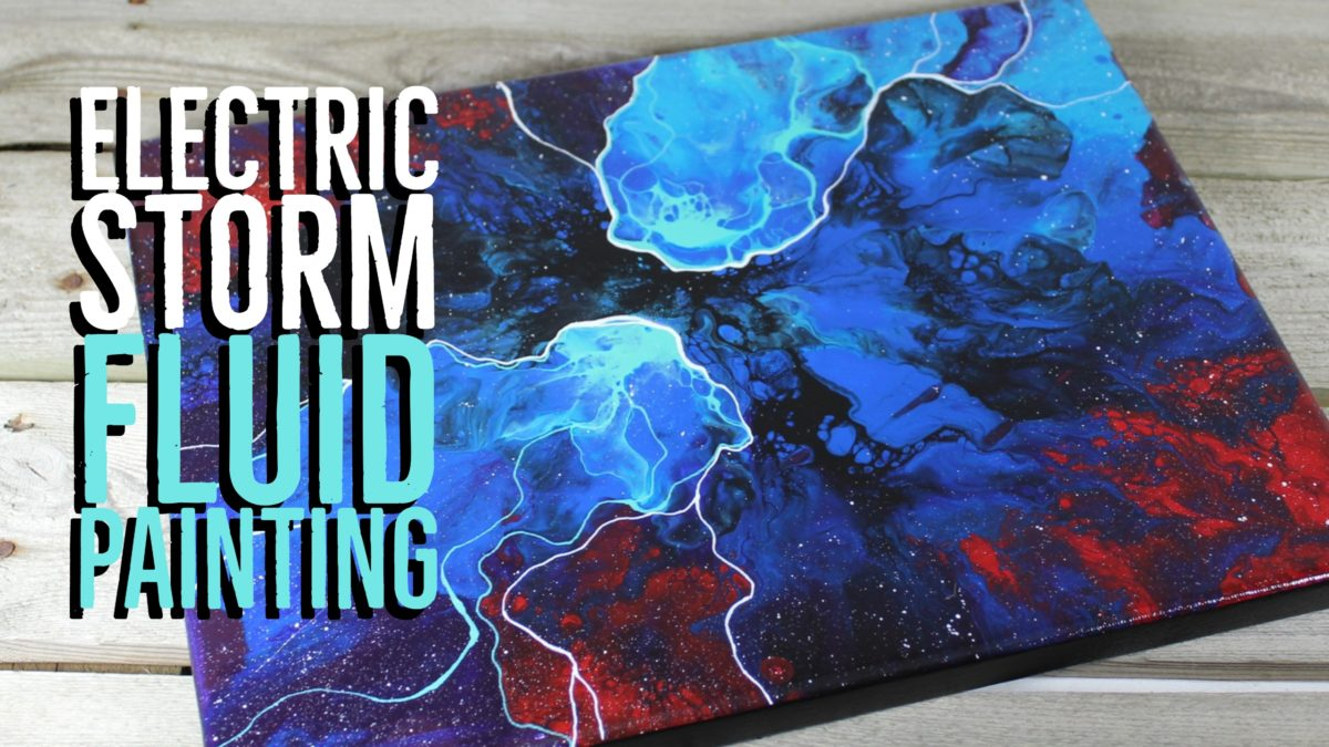 Electric Storm Fluid Painting Time Lapse