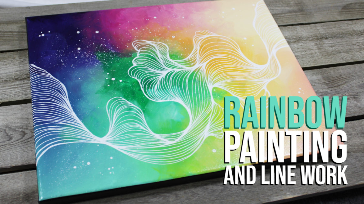 Rainbow Painting and Line Work Time Lapse