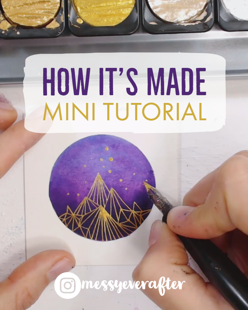 Mini Art Tutorial: Ink with Golden Lines