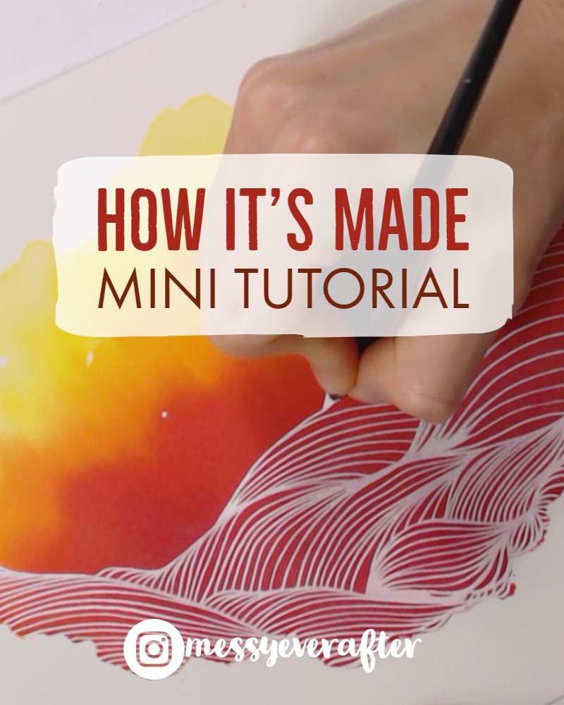 Mini Art Tutorial: Ink Oceanscape