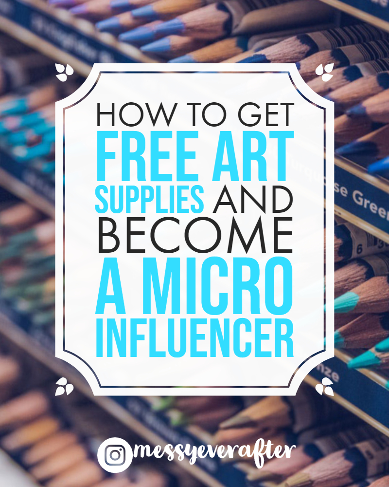 How to Get Free Art Supplies and Become a 'Micro-Influencer'