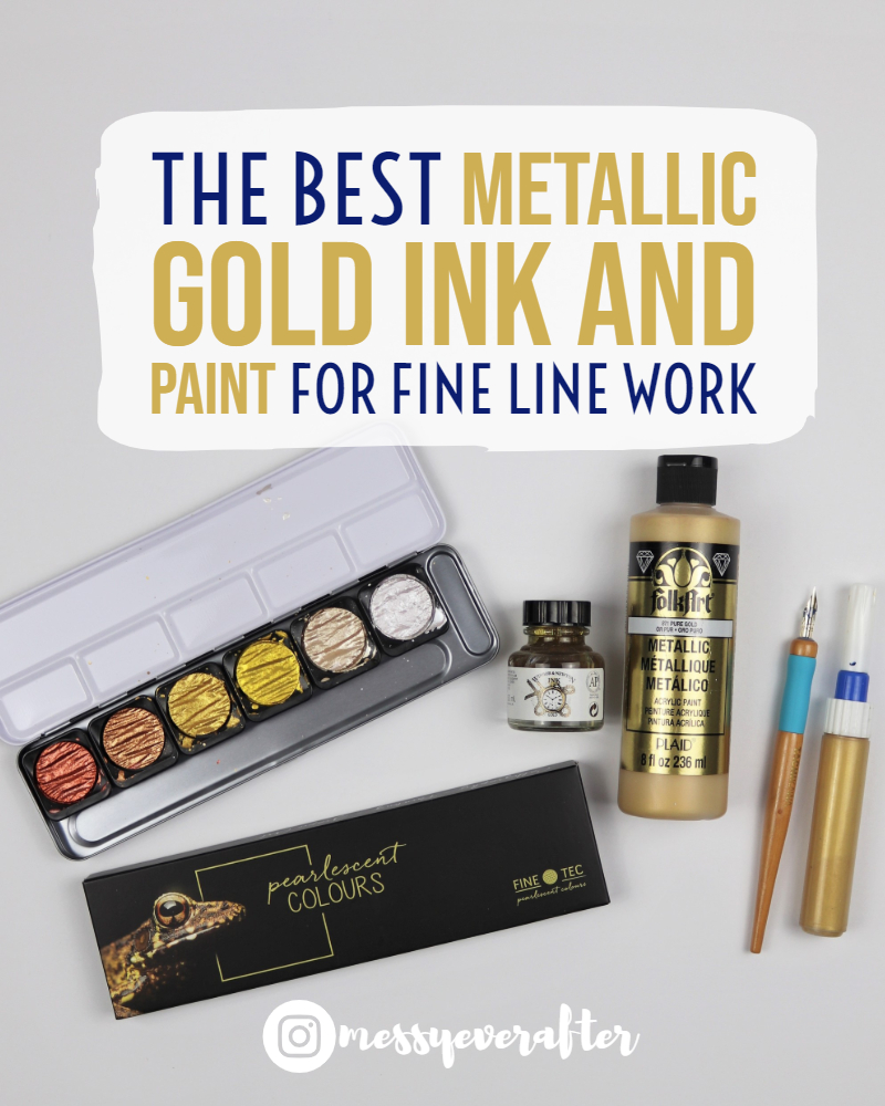The Best Metallic Gold Ink and Paint for Fine Line Work