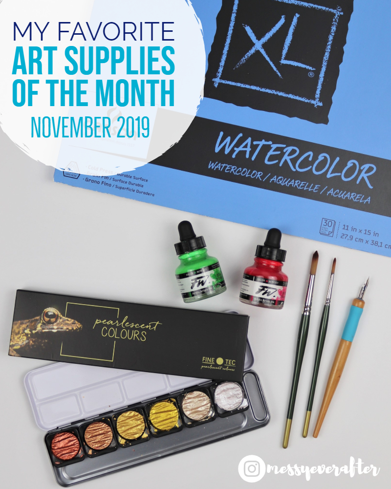 My Favorite Art Supplies of the Month