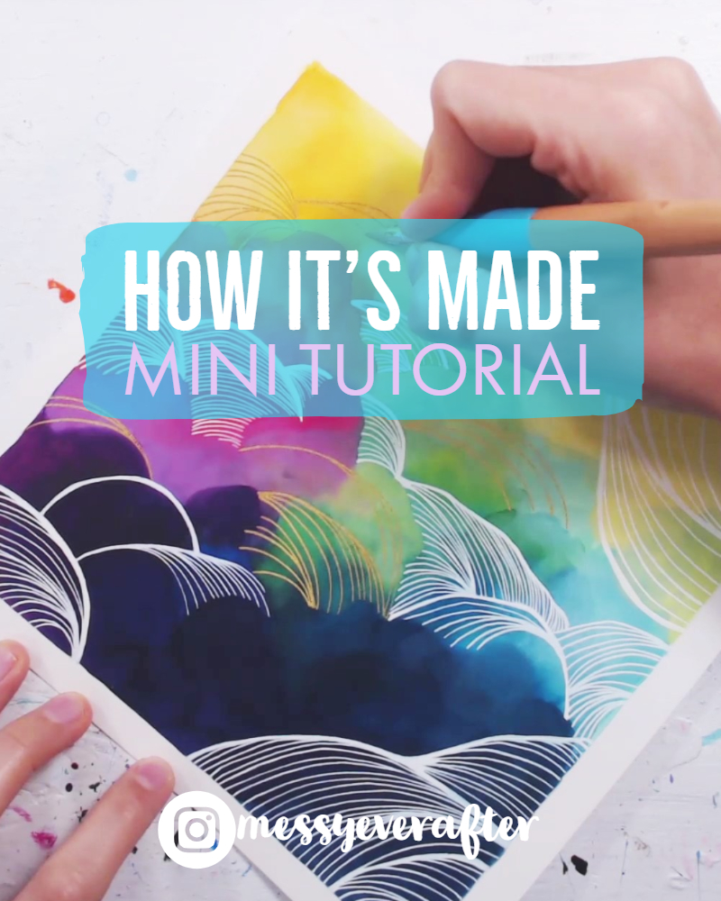 Mini Tutorial: Rainbow Sky with Metallic Embellishment