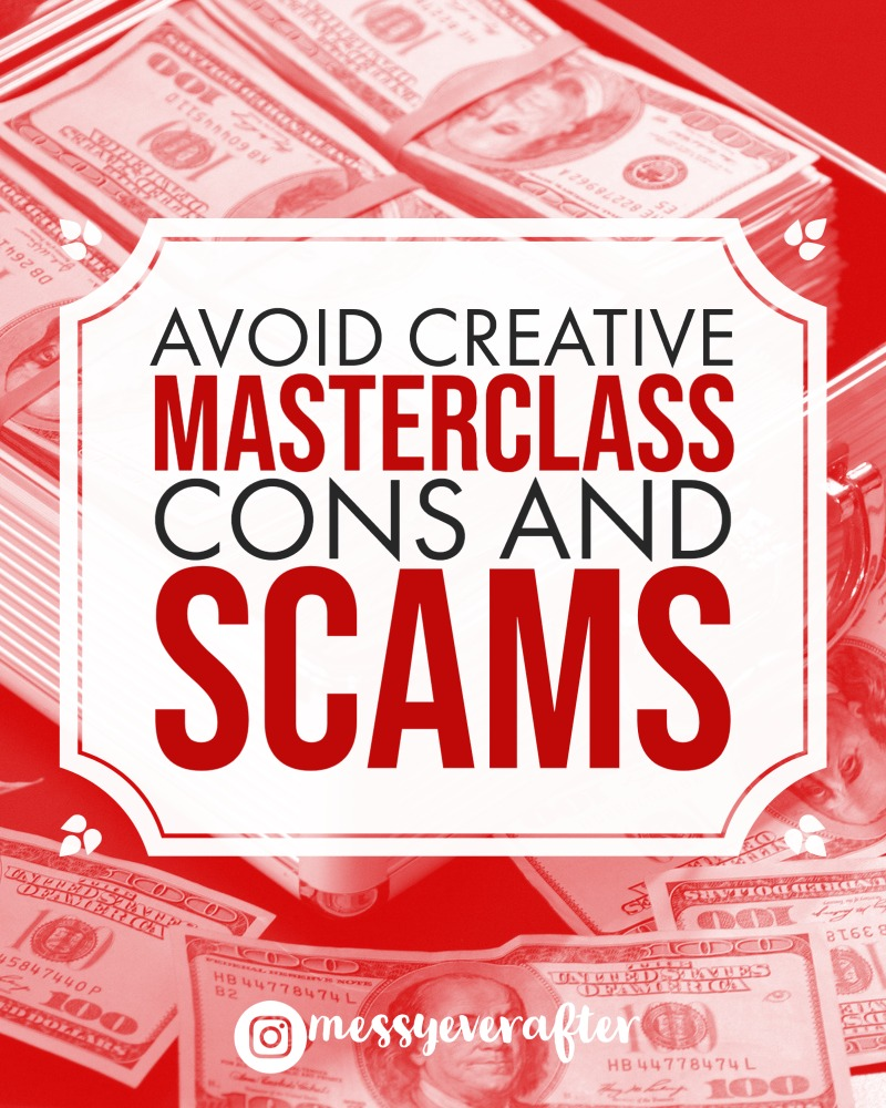 Avoid Creative Masterclass Cons and Scams